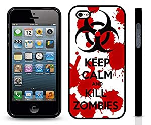 "iStar Cases? iPhone 5/5S Case with ""Don't Tread on Me"" Snake Design , Snap-on Cover, Hard Carrying Case (Black)"