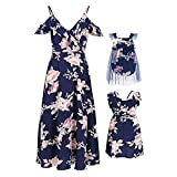 PopReal Mommy and Me Dresses Floral Print Cold