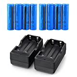 8PCS 3.7V Li-ion Rechargeable 18650 Battery for Handheld Flashlights(NOT AA or AAA)