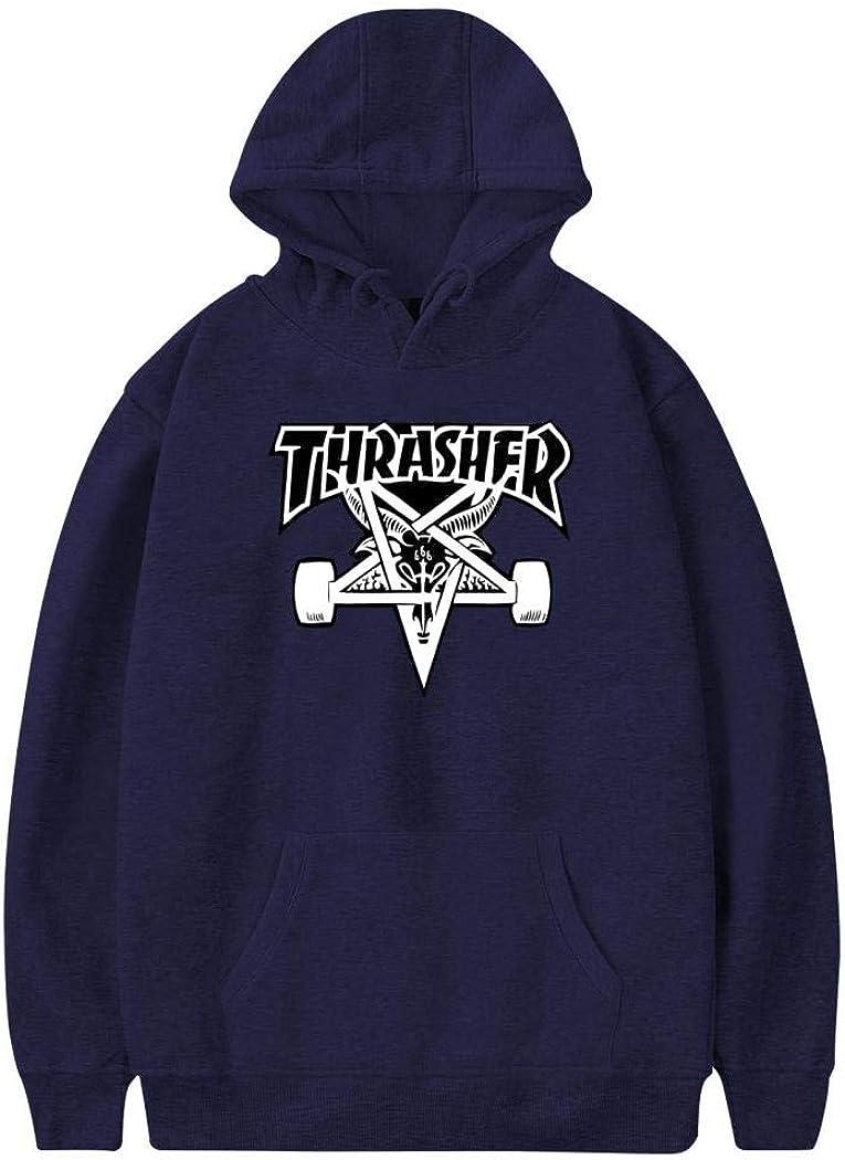 DSVGR GREH Mens Lightweight Pullover Hoodie Thra-Sher Skateboard Unisex Hooded Sweatshirt