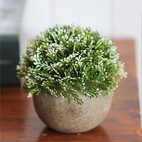 Green Kitchen Jeddah: Velener Mini Plastic Artificial Plants In Pots For Home