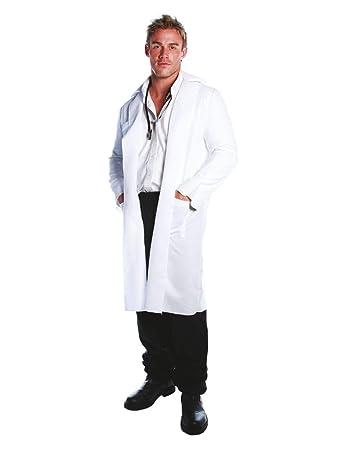 f92d2cd8936 Horror-Shop Weißer Arzt Kittel als Doktor Kostüm für JGA   Karneval ...