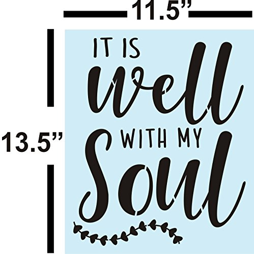 It is Well with My Soul Stencil Bundle for Painting Signs, Reusable, 14 mil
