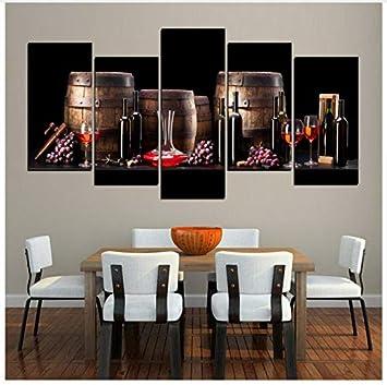 Leinwandbilder Für Küche | Lqwe Leinwand Gemalde Leinwandbilder Kuche Dekor 5 Stuck Trauben