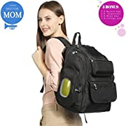 Diaper Bag Backpack Baby Newborn Dogs Strollers Organizer For Womens Mens 6 Registry Gifts Set|Multi Function Adult Big Black Handbags Boys Girls Toddlers Female Male Caddy Packs Wallets Strap Stuff