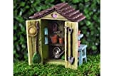 Miniature Dollhouse FAIRY GARDEN /Garden Shed Review