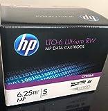 5 Pack HP C7976A LTO6 Data Tape 6.25TB