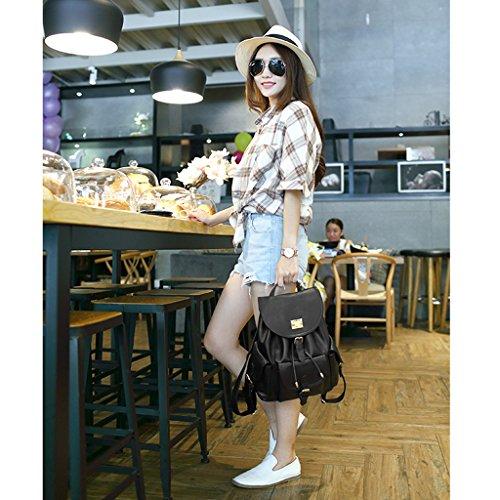 Zaino delle ragazze delle signore delle donne 2017 nuova borsa a tracolla femminile versione coreana della borsa dell'onda di onda semplici borsa degli studenti selvatici sacchetto di svago zaino dell