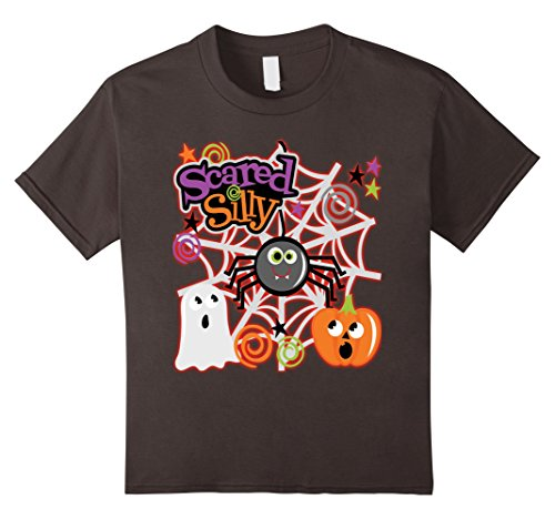 Spider Costume Homemade (Kids Halloween Costume Shirt Scared Silly With Spider Cute Hallow 10 Asphalt)