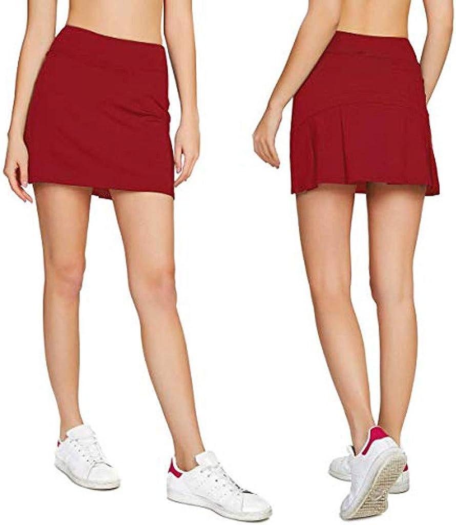 HuaMore Jupe Short Femme Dame de la Mode Boh/émien Imprim/é Haute Flexible Taille en Forme de A Robe de Plage Jupe