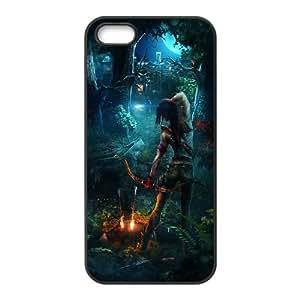 Lara Croft Tomb Raider 3 iPhone 4 4S funda Cubierta Negro caja del teléfono celular Funda Cubierta EOKXLLNBC00852