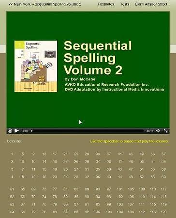 Amazon.com : Volume 2 - Sequential Spelling DVD-ROM, NEW Version ...