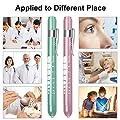 CAVN Pen Light with Pupil Gauge LED Penlight for Nurses Doctors, Reusable Medical Penlight for Nursing Students Teal and Light Pink