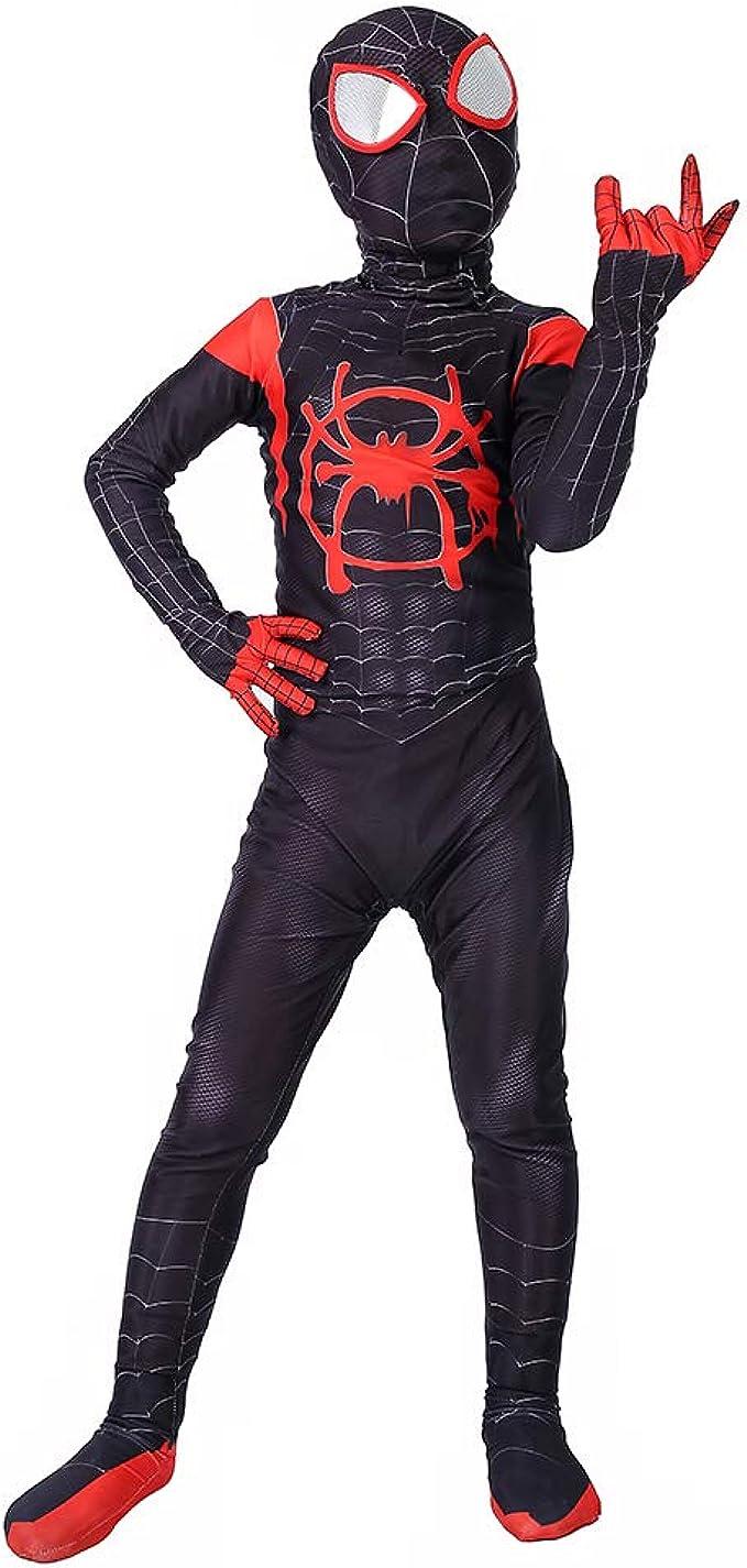 Amazon.com: Miles Morales Into the Spider-Verse - Disfraz de ...