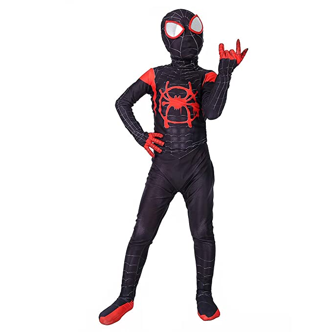 Miles Morales Into the Spider-Verse 3D Printed Spandex Lycra Spider-Man Costume For Kids