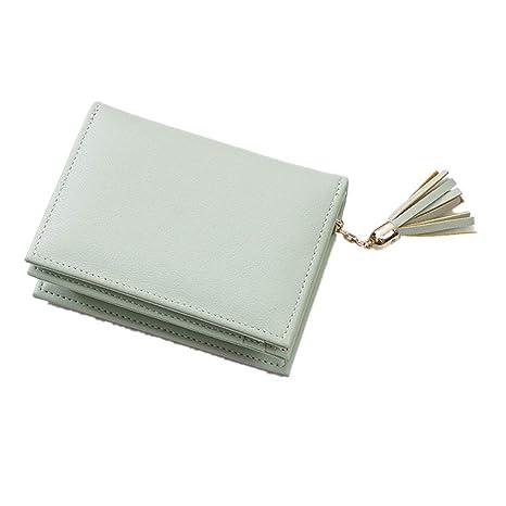 Monedero de bolsillo para mujer Señoras Monedero de cuero ...