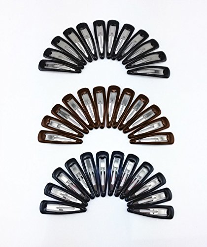 yueton 36pcs Glossy Barrettes Ladies