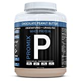 PROMIX Standard 100 Percent All Natural Grass Fed & Undenatured - Best for Optimum Fitness Nutrition Shakes & Energy Smoothie Bowls: Chocolate Peanut Butter 1 lb Bulk- Look Better Naked Whey
