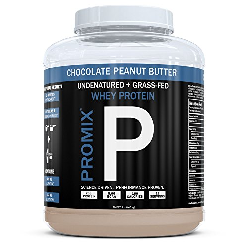 Cheap PROMIX Standard 100 Percent All Natural Grass Fed & Undenatured – Best for Optimum Fitness Nutrition Shakes & Energy Smoothie Bowls: Chocolate Peanut Butter 1 lb Bulk- Look Better Naked Whey