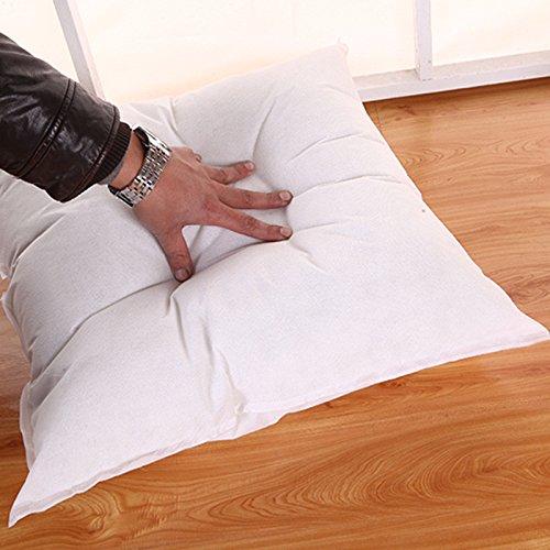 Premium Hypoallergenic Stuffer Pillow Insert Sham Square Form Polyester (White, 16'' x 16'')