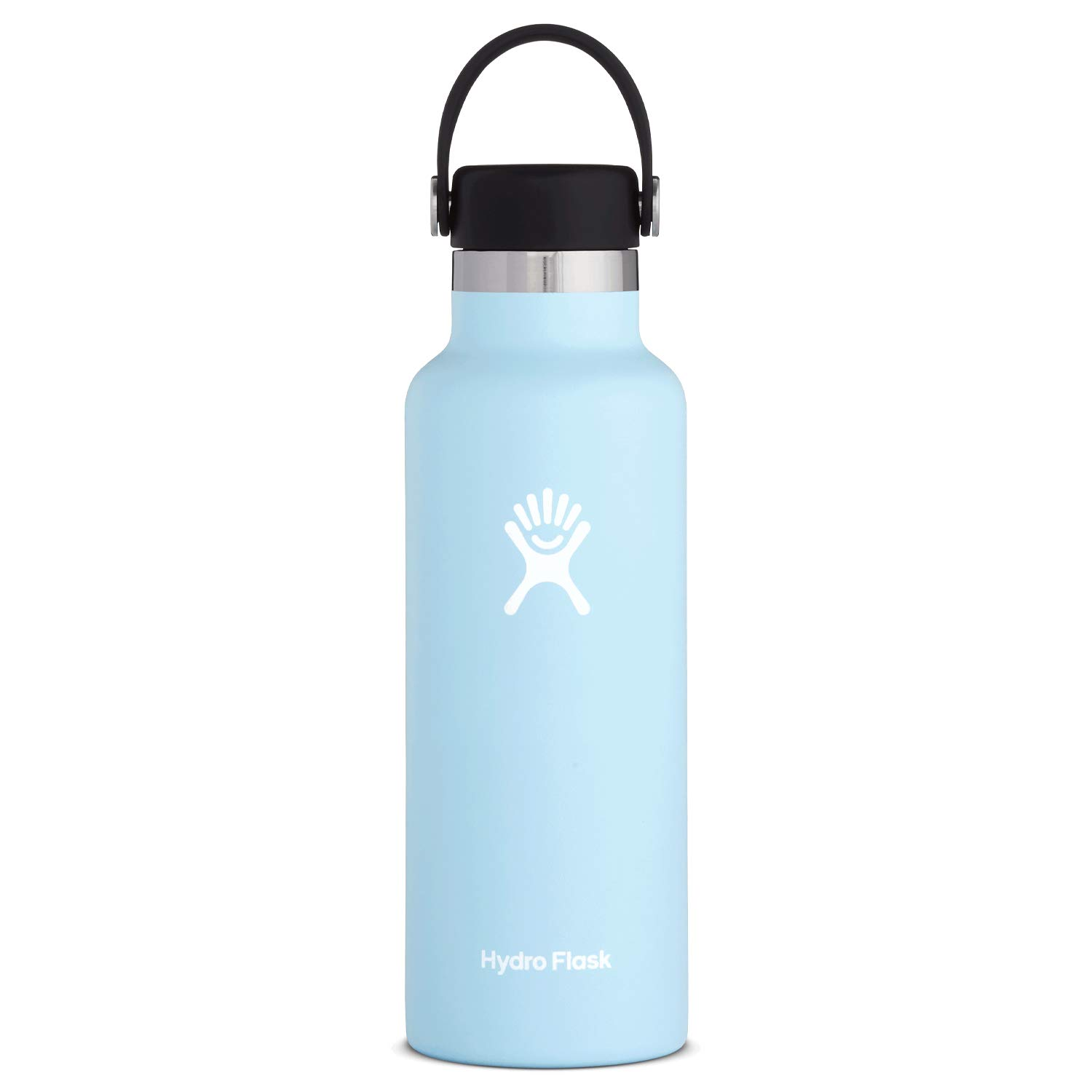 Hydro Flask Water Bottle - Stainless Steel & Vacuum Insulated - Standard Mouth with Leak Proof Flex Cap - 18 oz, Frost by Hydro Flask