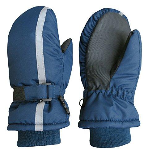 - N'Ice Caps Kids Thinsulate Waterproof Reflector Winter Snow Ski Mittens (3-4 Years, Navy)