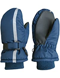 Kids Thinsulate Waterproof Reflector Winter Snow Ski Mittens