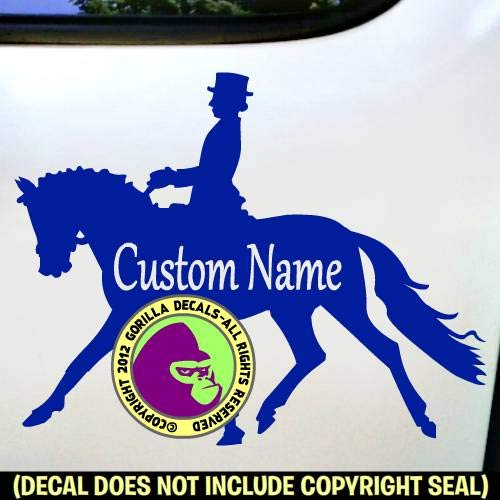 DRESSAGE CUSTOM COLOR SIZE and WORDS Horse Rider Vinyl Decal Sticker A