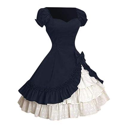 Vestido medieval para mujer, cosplay de Jessboy, escote de Lolita ...