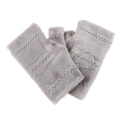 Winter Autumn Thick Warm Gloves Keyboard Leak Finger Gloves Gray - 5