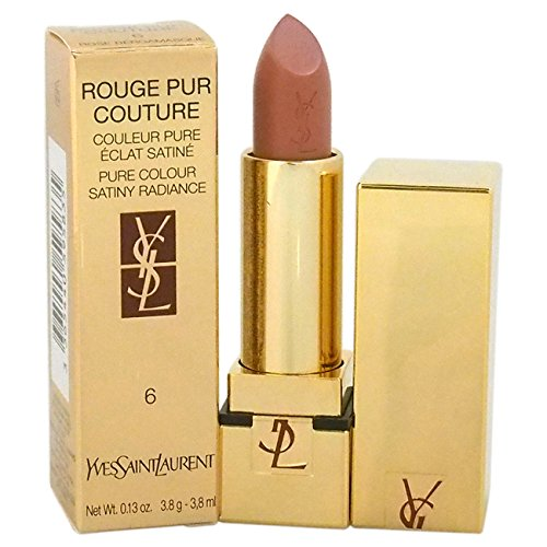 (Rouge Pur Couture Pure Colour Satiny Radiance Lipstick - # 6 Rose Bergamasque by Yves Saint Laurent for Women - 0.13 oz Lipstick)