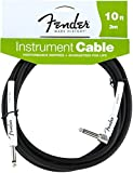 Fender Instrument Lead 10 Foot /3 M 1/4 Jack to 1/4 Angled Jack