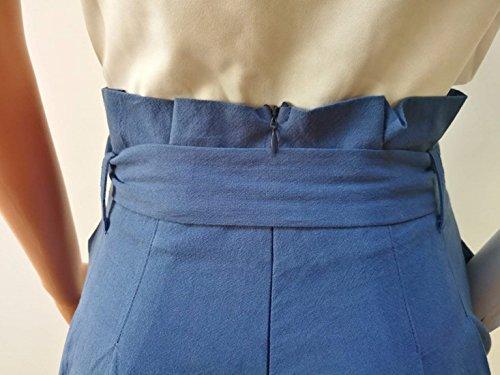 Fashion Waist Libero HaiDean Grazioso Tempo Monocromo Ragazze Pantalone Palazzo Pantaloni Pantaloni Cintura Pantalone Culotte Inclusa Donna Hellblau Larghi High Estivi Baggy Eleganti w77Y6qrZ