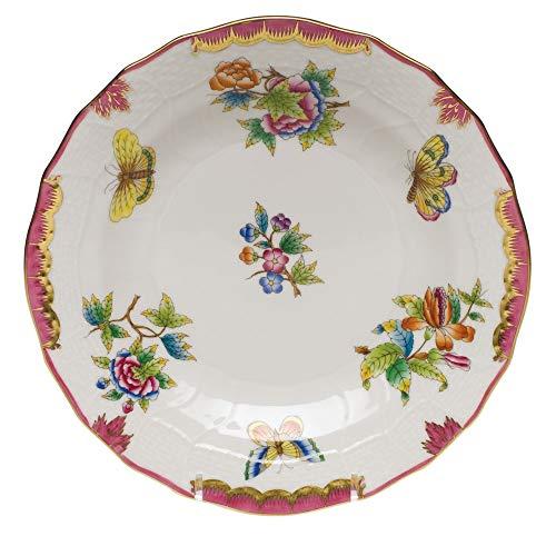 - Herend Queen Victoria Pink Porcelain Dessert Plate