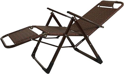 Silla de jardín reclinable de ratán, Muebles de jardín para Exteriores |Tumbona Plegable Tumbonas Ajustables Tumbonas reclinables para el Patio Sala de Estar Balcón Patio Playa: Amazon.es: Hogar