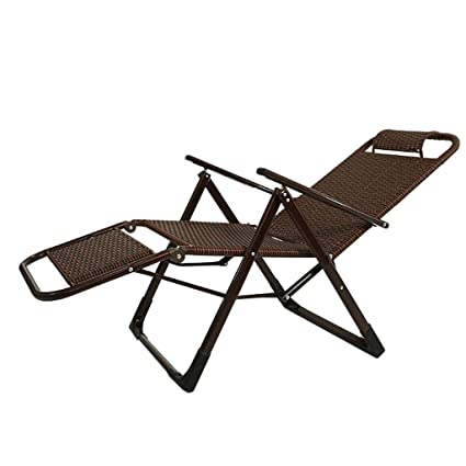 Amazon.com: LHNLY-Lounge Chairs Rattan Reclining Garden ...