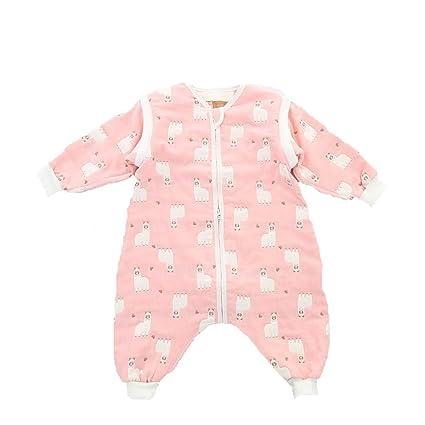 CWLLWC Saco de Dormir para bebé,Gasa de algodón no Partida Saco Cuatro Temporadas bebé