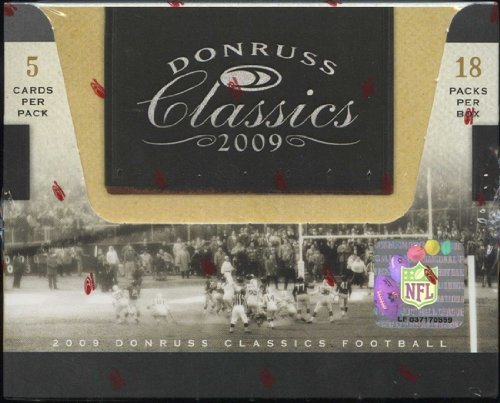 1 (One) Box - 2009 Donruss Classics Football Hobby Box (18 Packs per Box) - Possible Knowshon Moreno, LeSean McCoy, Michael Crabtree, Percy Harvin, Matthew Stafford, and/or Arian Foster Rookie Cards!!!