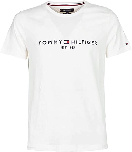 TALLA L. Tommy Hilfiger Logo T-Shirt Camiseta Informal para Hombre