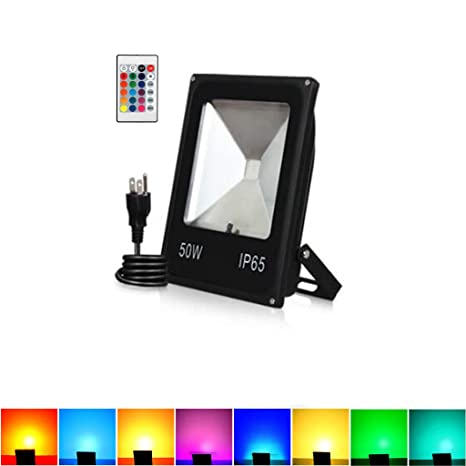 Led With Floodlight6 Foot Safety Remote Light Control50w Outdoor eDIH9EYbW2