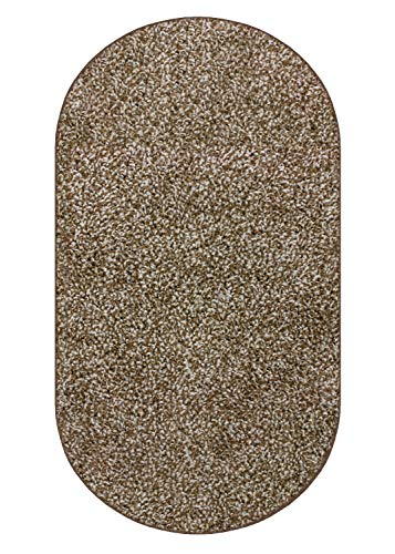 Koeckritz 6 x9 Oval Chocolate Chip Area Rug Carpet with Multiple Sizes and Shapes Available