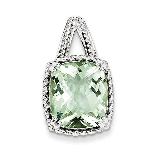 Pendentif en argent Sterling Quartz vert-JewelryWeb