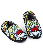 Pokemon Slippers, Sloffen Kind, Leuke Pantoffels Jongens en Meisjes met Plush Voering en Antislip Zool, Cadeau Ideeën voor Kinderen en Tieners, Gift for Gamer 31 EU