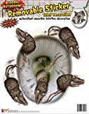 Kitchen & Housewares : Forum Novelties Bloody Bathroom Rat Toilet Seat Clings, Brown