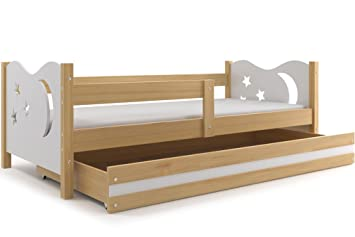 Bett Für Jungen, Nicolò 160 X 80 (weiß), Kinderbett Mit Kommode,