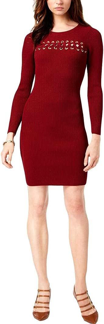 Michael Kors Vestido Casual Acanalado con Frente de Encaje para Mujer