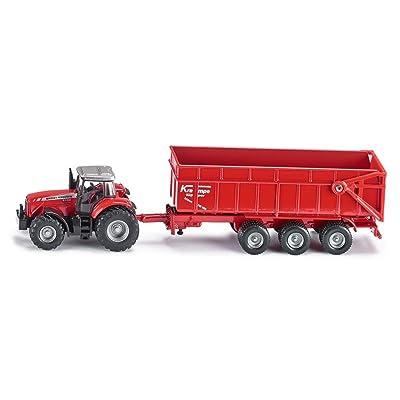 Siku 1:87 Massey Ferguson Tractor W/Trailer: Toys & Games