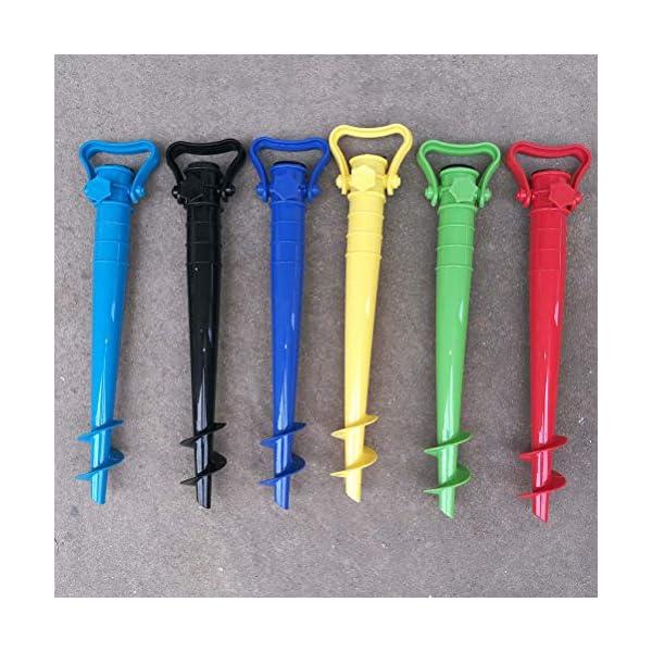 Yardwe 2Pezzi Picchetto di Supporto per ombrellone Mare Spiaggia in plastica Porta ombrellone da Spiaggia,Blu (16.5 x 7… 6 spesavip