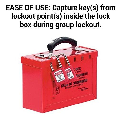rojo Master Lock ml498/a acero grupo caja de Lock