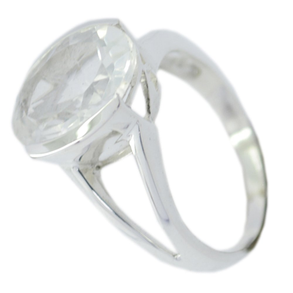 Gemsonclick Fine Crystal Quartz Stone Statement Rings For Her Bezel Style Oval Shape Available Sizes 5-12 by Gemsonclick (Image #3)